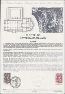 Collection Historique: Kloster von Notre-Dame Cloître de Notre-Dame-en-vaux 1988