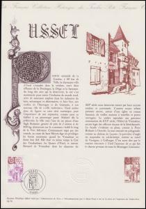 Collection Historique: Stadtarchitektur Ussel - Kirche & Kirchplatz 10.7.1976