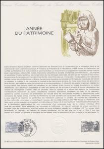 Collection Historique: Année du Patrimoine / Kulturerbejahr 21.6.1980