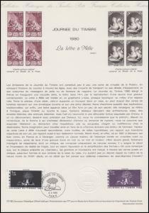 Collection Historique: Tag der Briefmarke - Der Brief / La Lettre à Melie 1980