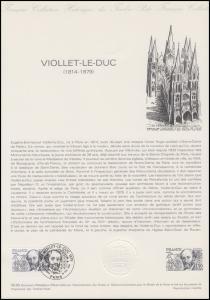Collection Historique: Architekt und Denkmalpfleger Eugène Viollet-le-Duc 1980