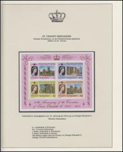 St. Vincent und Grenada Jubiläum Elizabeth II. & Kathedralen, Block **