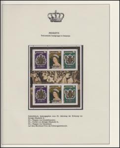 Penrhyn Jubiläum Elizabeth II. Krönung & Westminster & Wappen, 2 Blöcke **