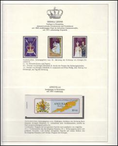 Jubiläum Elizabeth II. 1978: Sierra Leone 3 Marken & Angiulla Markenheftchen **