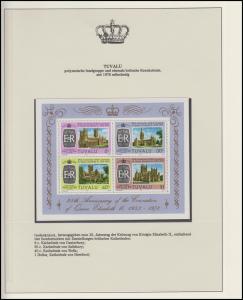 Tuvalu Jubiläum Elizabeth II. Britische Kathedralen, Block **