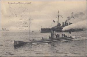 Ansichtskarte Deutsches Unterseeboot, Feldpost WILHELMSHAVEN 9.5.16