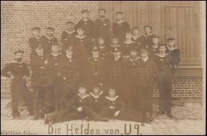 Foto-Ansichtskarte Die Helden von U 9, WILHELMSHAVEN 29.9.14 nach Gronau