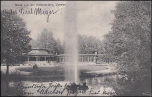 Ansichtskarte Viersen: Gruss aus der Kaisermühle,16.8.1908 nach Borkum