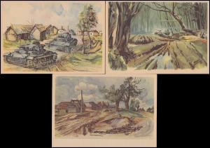 Karten 2. Weltkrieg der Kriegsberichterstatter aus Kolodesy, Stariza, Dubrowska