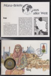 Numisbrief Iran 1987 Traditionelle Frauentracht, Kursmünze