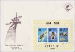 Korea: Block Die Honigbiene / Honey-Bee auf FDC 22.12.1997