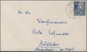 216 Engels 12 Pf EF Brief Gotha 2.4.50