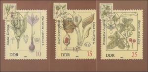 2691-96 Giftplanzen 1982 - Satz auf Wermsdorf-Maximumkarten