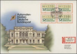 1.1. ATM-Ergänzungswerte 170/240/320/350 Pf Schmuck-FDC 1.4.89