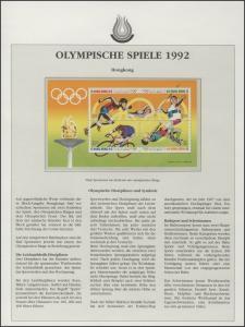Hongkong 1992: Leichtathletik & Schwimmen & Radrennen, 1 Block **