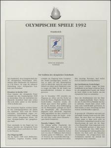 Frankreich 1992: Olympischer Fackellauf, 1 Marke **