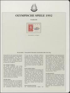 Frankreich 1992: Rennrodeln in La Plagne, 1 Marke **