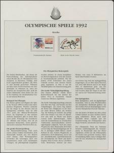 Mexiko 1992: Friedenstaube für Olympia & Reiter und Sonne, 2 Marken **