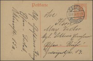 Postkarte P 110I Germania 7 1/2 Pf. ESSEN-BORBECK 23.10.16