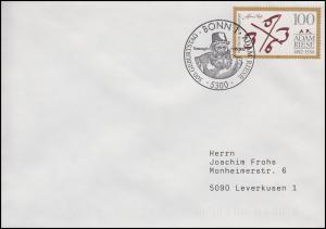 1612 Adam Riese, EF FDC ESSt Bonn 500. Geburtstag 7.5.92