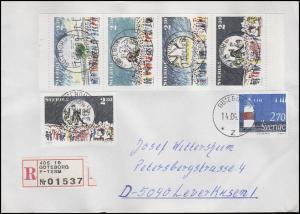 Schweden: Sport- und Kulturzentrum Globen 1989, ZD auf R-FDC Göteborg 14.4.89