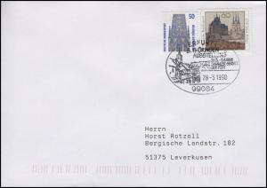 1661 Erfurt, MiF Bf SSt Erfurt 8. Thüringen Ausstellung & Stadtbild 28.3.1998