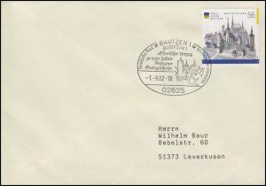 2232 Bautzen EF Brief SSt Bautzen Hitstorischer Umzug & Stadtgeschichte 1.9.2001