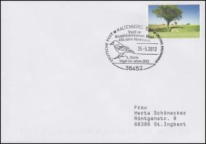 Dohle - Vogel des Jahres, Bf SSt Kaltennordheim Biosphärenreservat Rhön 25.5.12