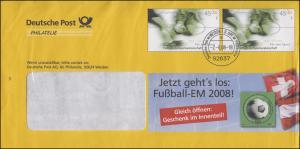 Plusbrief F 322 Fußball - Jetzt geht's los: Fußball-EM 2008! Weiden 2.6.2008