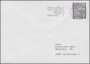 1544 Genfer Flüchtlingskonvention, Brief Dortmund - UNO Tagung Dortmund 24.2.92