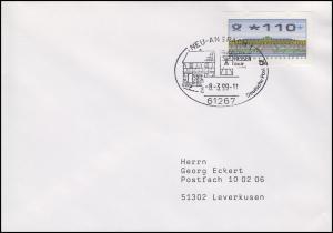 HESSEN-PARK Freilichtmuseum, ATM-EF Brief SSt Neu-Anspach 8.3.1999