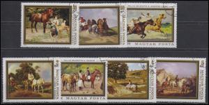 Ungarn: Gemälde Landschaften - Menschen und Pferde 1979, 7 Werte, Satz O
