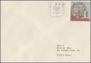 2105 Nationalpark Hainich, EF Brief WWF - Schützt die Natur BZ 60 - 22.1.02