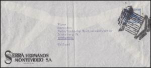 Uruguay Brief mit UNESCO-Sonderstempel Montevideo EF Flugzeug nach Amsterdam