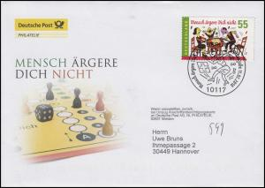 Deutschland 2783 Brettspiel: Mensch ärgere Dich nicht Post-FDC Berlin 11.2.10