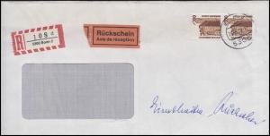 1348 SWK 2x 300 Pf. R-Fensterbrief mit Rückschein BONN 26.5.89