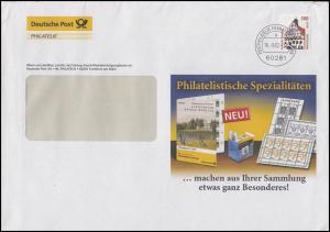 2141 SWK Rathaus Grimma 300 Pf EF Werbe-Brief Spezialitäten FRANKFURT 16.9.02
