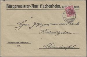 Germania 10 Pf Bf Bürgermeister in Kuchenheim CUCHENHEIM 14.7.12 n. Münstereifel