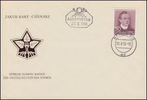 535 Dichter Jakob Bart-Cisinski auf Schmuck-FDC ET-O BERLIN W8 - 20.8.56