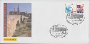 Steinerne Brücke Regensburg Schmuck-Brief SSt Bonn World Net Zentrale 27.3.02