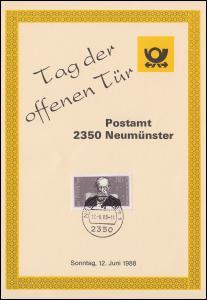 Erinnerungskarte Tag der offenen Tür Postamt 2350 NEUMÜNSTER 1 - 12.6.1988