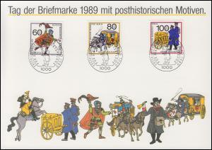 852-854 Postbeförderung, Satz auf Sammler-Service-ETB ESSt Berlin 12.10.1989