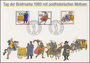 852-854 Postbeförderung, Satz auf Sammler-Service-ETB mit ESSt Berlin 12.10.1989