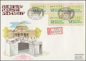 ATM 1.1hu VS 4 Ergänzungswerte Bund-ATM Schmuck-R-FDC ESSt Wiesbaden 27.9.1982