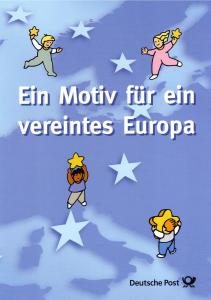 Gedenkkarte: Ein Motiv für ein vereintes Europa mit Bund 2114, ESSt Bonn