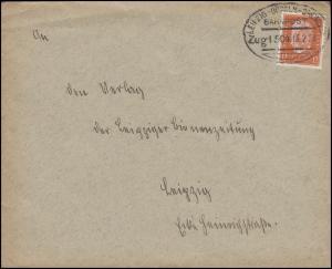 Bahnpost LEIPZIG-DÖBELN-DRESDEN ZUG1504 - 15.2.33 Brief EF 466 nach Leipzig