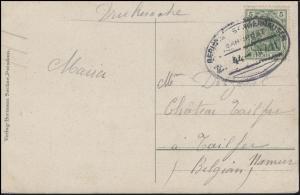 Bahnpost BERLIN - SANGERHAUSEN ZUG 44 - 10.7.11 auf AK Potsdam Sanssouci