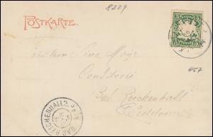 Bahnpost Einkreis K.B. BAHNPOST 16.5.1904 auf AK Gruss aus Laufen Salzachbrücke