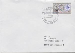 Schiffspost Vogelfluglinie Fährschiff KARL CARSTENS, EF 1647 Brief 17.5.93