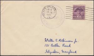 Schiffspost Dampfschiff M.S. TABINTA auf USA-Brief NEW ORLEANS 14.2.1936